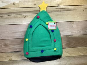 Christmas Tree Pet Cat Dog House Pop Tent Bed Green Indoor Holiday Felt Hideaway Hut for Sale in Westminster, CO
