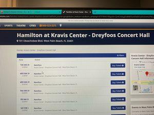 Hamilton at Kravis Center for Sale in Palm Beach Gardens, FL