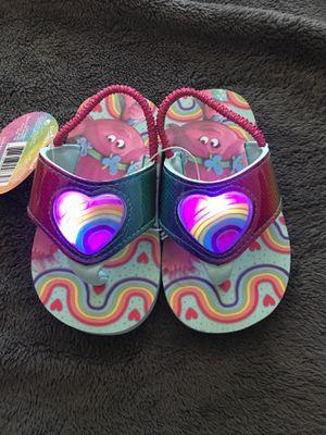 Light up trolls flip flops size 7/8 toddler for Sale in Fresno, CA