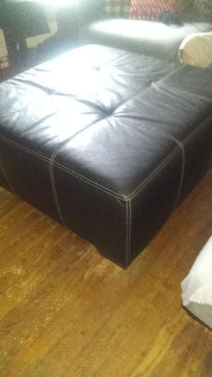 Leather ottoman for Sale in Pawtucket, RI