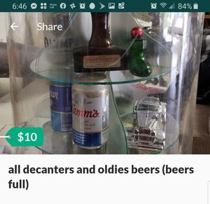 all decanters and oldies beers (beers full) for Sale in Lodi, CA
