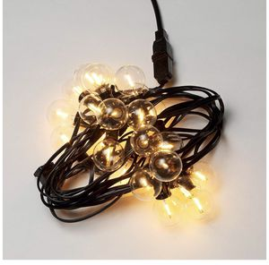 G40 25Ft LED Dimmable Outdoor String Lights - Edison Vintage Warm Glow 1W 2200K Globe Small Clear Glass 23Sockets - Cafe Ambience Outside Hanging Lig for Sale in Plantation, FL