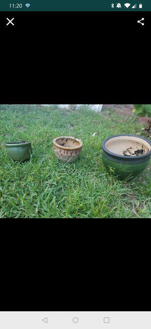 Garden flower pots Ceramic for Sale in Orlando, FL