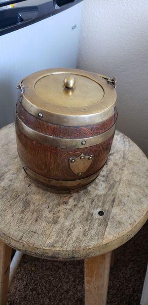 Mini wood brass barrel for Sale in Lodi, CA
