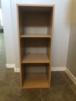 Tan bookshelf cubby organizer for Sale in Gilbert, AZ