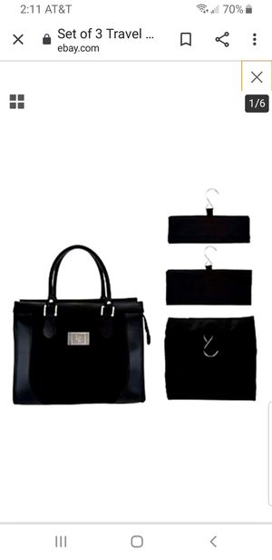 Lori Greiner set of 4 Travel Organizer with Tote Bag for Sale in Germantown, MD