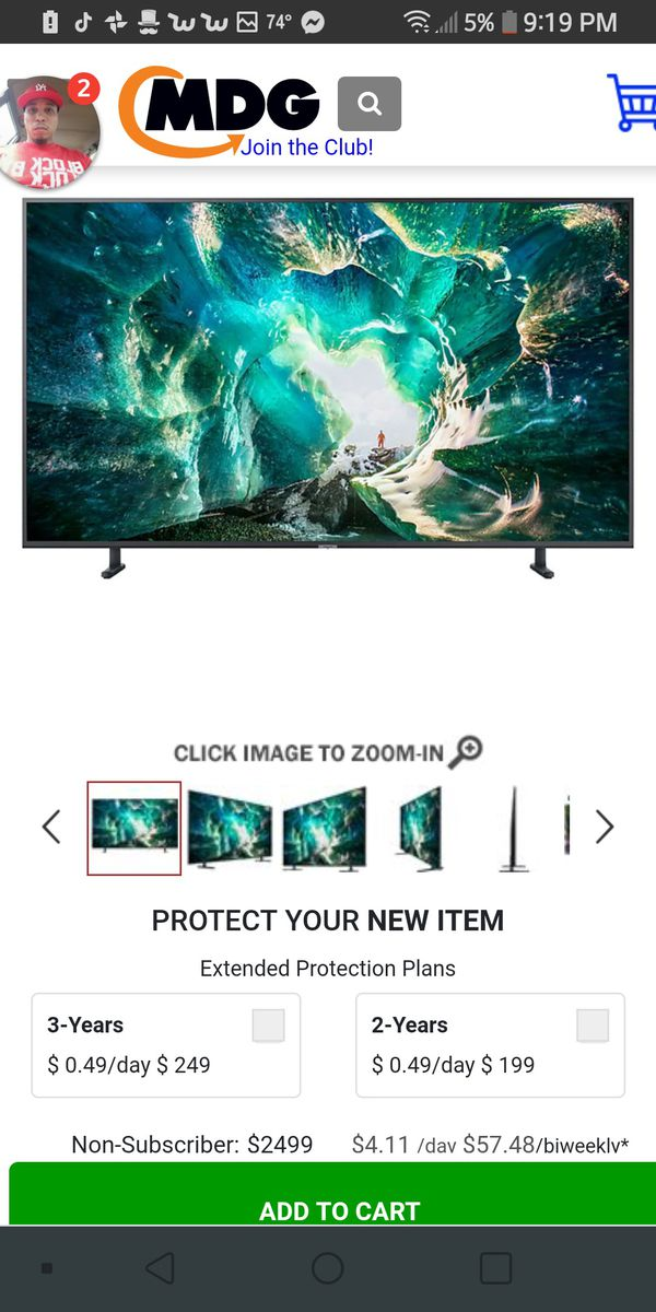 "Samsung 82"" 4K UHD HDR LED Smart TV"