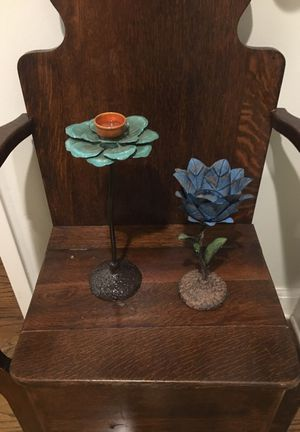 Hand painted candle holders. for Sale in Austin, TX