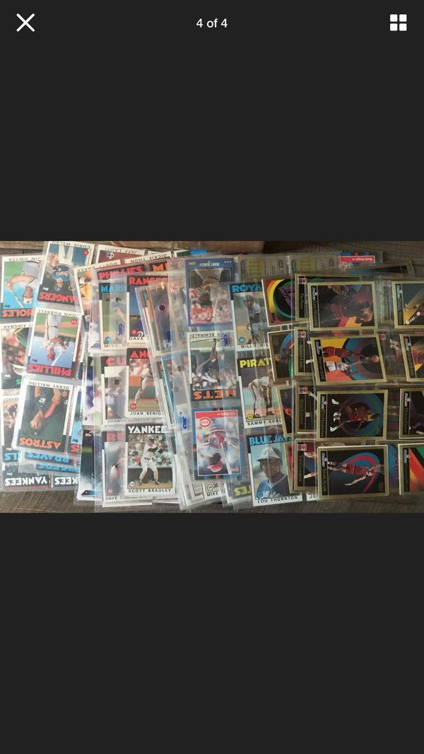 Late 80s And Early 90s Baseball Cards