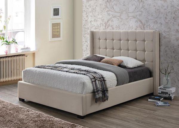 Brand New - SAND/ BEIGE PLATFORM QUEEN Bedframe