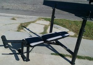 Marcy adjustable Olympic size weight bench. $40 for Sale in Compton, CA