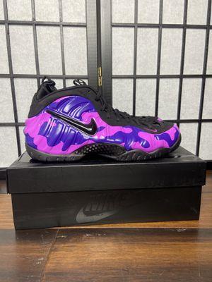 Nike air Foamposite pro purple camo for Sale in Olney, MD