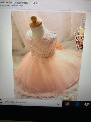 Nnjxd girls tulle flowers prince wedding dress for toddler for Sale in Herndon, VA