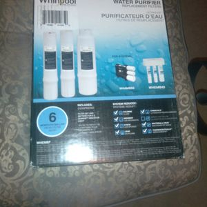 Whirlpool Water Purifier Replacement Filters For Systems WHAMBS35 AND WHEMB40 NEVER OPENED for Sale in Pittsburgh, PA
