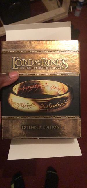 Lord of the rings extended trilogy on Blu-ray for Sale in Memphis, TN