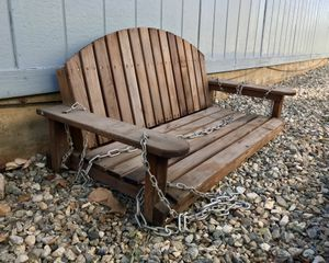 Wood Bench Porch Swing for Sale in Calimesa, CA