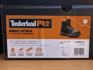 "Timberland Pro size 8M - DIRECT ATTACH 6"" SOFT TOE WATERPROOF 90 each 170 by the two pairs for Sale in Boston, MA"