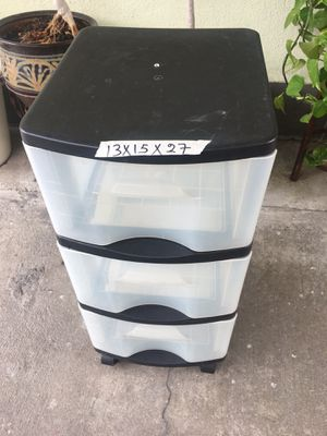 Three drawer plastic organizer for Sale in Los Angeles, CA