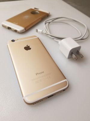 Perfect condition! Att Gold iPhone 6 with 16gb with charger and case for Sale in Phoenix, AZ