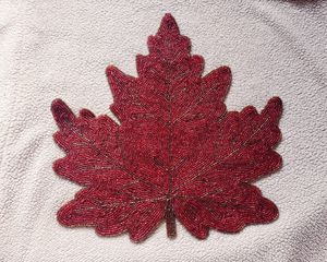 Beaded Leaf Placemat for Sale in East Wenatchee, WA