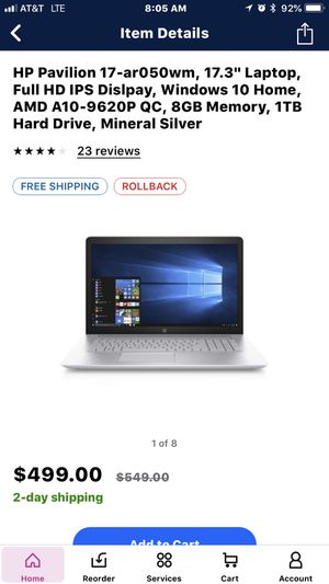 HP Pavilion Notebook 17.3 for Sale in Port St. Lucie, FL