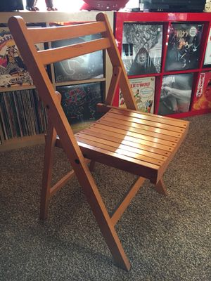 Vintage Folding Wooden Chair for Sale in Normandy Park, WA