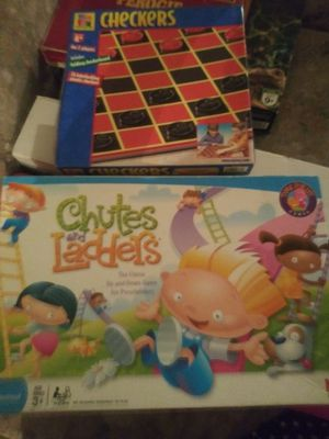 KIDS GAMES CHUTTES AND LADDERS & CHECKERS for Sale in Las Vegas, NV