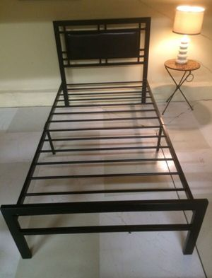 Brand New Twin Size Black Metal Bed Frame for Sale in Silver Spring, MD