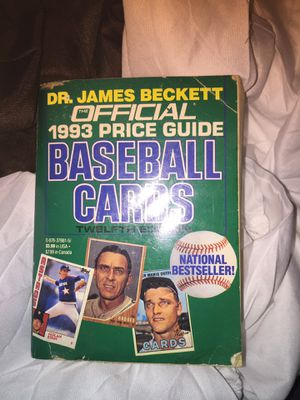 Baseball collectors vintage book price guide 1993 for Sale in North Riverside, IL