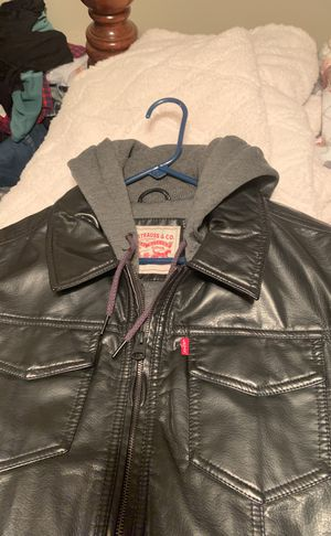 Brand newLEVI'S black leather jacket xl for Sale in Cedar Hill, MO