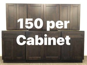 New Espresso Shaker Kitchen Cabinets 150 / cab Bathroom Vanity Cupboards Wood Soft Close Wall Base Island Garage for Sale in Pasadena, TX