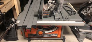 🛠💥🧰 Ridgid 15 Amp 10 inch table saw with stand!! Only $200 this weekend!! 🛠💥🧰 for Sale in Irving, TX