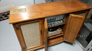 Tv stand with record player and radio for Sale in Boston, MA