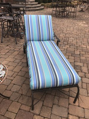 Two cast iron recliners with cushions for Sale in Centreville, VA