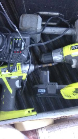 Drill and impact Ryobi, Charger,2baterys 100dls for Sale in Redmond, OR