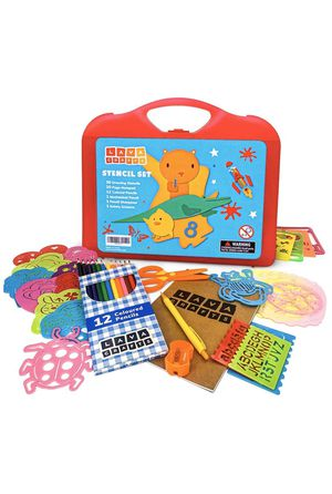 Kids toy stencils set (46 piece) New in the box for Sale in Santa Clara, CA