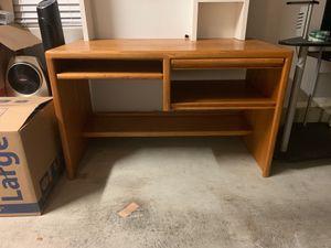 Brown desk and/or white desktop organizer for Sale in Hillsboro, OR
