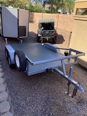 Steel Flatbed trailer Equipment Toys Tractor for Sale in Chandler, AZ