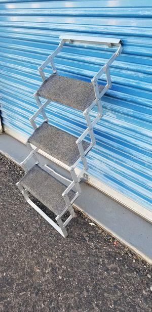Aluminum folding 3 step scissor steps. . for Sale in Phoenix, AZ