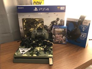Ps4 slim 1tb WITH wireless stealth 600 turtle beach for Sale in Sterling, VA