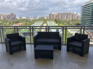 Italian outdoor patio furniture in its box 1 year warranty for Sale in Pompano Beach, FL