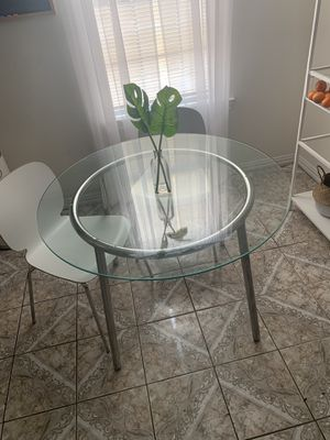 Glass Diner Table and Chairs for Sale in Houston, TX