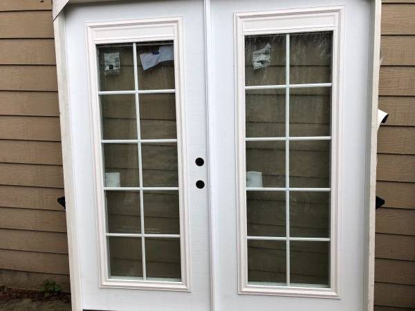 Brand new exterior french doors with built in blinds for - Exterior french doors with built in blinds ...