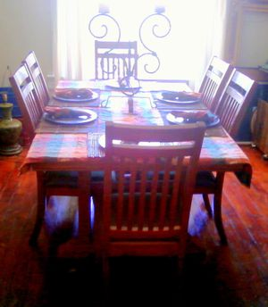 Mission Style Wood Dining Table and Chairs for Sale in Columbus, OH