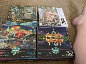 750 piece puzzles 4 puzzles for Sale in Puyallup, WA