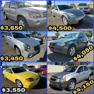 2001 Toyota Highlander / 2003 Cadillac CTS / 2004 Hyundai Tiburon / 2004 Nissan 350Z / 2005 BMW X3 / 2005 Chevy Equinox for Sale in Phoenix, AZ