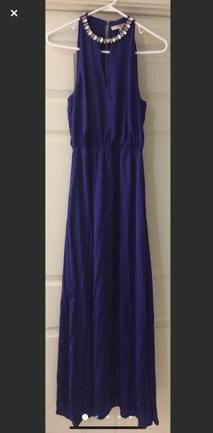 Royal Blue Dress With Embellished Neckline for Sale in Lawrenceville, GA