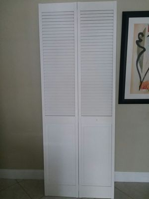 """Louvered doors , Size 30"""" x 80"""" 5 qty & 24"""" x 80"""" 2 qty , $40 Each for Sale in Coral Springs, FL"""