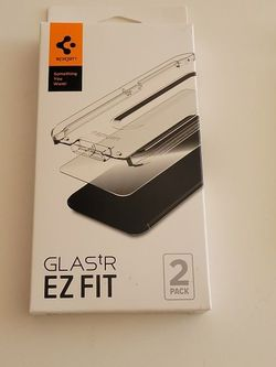 Spigen Tempered Glass Screen Protector For Iphone 12 And Spigen Rugged Armour Case for Sale in San Diego,  CA