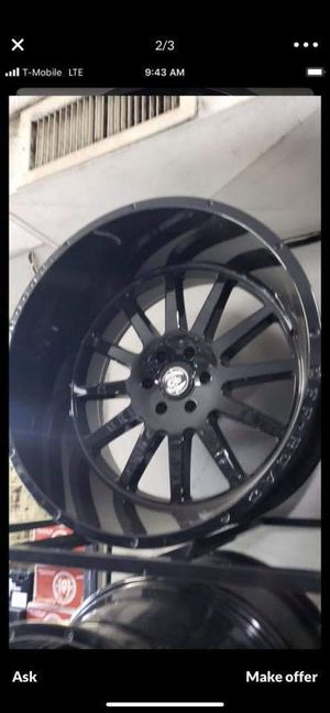 24x14 black hardcore offroad rims 6 lug 6x139 with New MUD tires 33 1250 24 lt for Sale in Phoenix, AZ